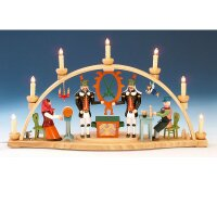 Knuth Neuber candle arch motif Erzgebirge colored