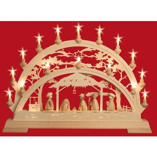 Taulin candle arch Pinie Holy Family with kings