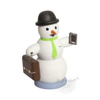 Kuhnert Smoker snowman with tie and briefcase