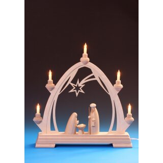 Emil Schalling candle arch with Nativity electric...