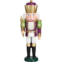 Seiffener Volkskunst eG nutcracker king purple/white