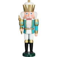 Seiffener Volkskunst eG nutcracker king turquoise/white