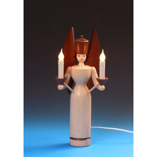 Emil Schalling angel candle holder electric illuminated