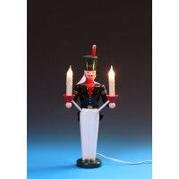 Emil Schalling miner candle holder, electric illuminated