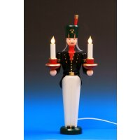 Emil Schalling miner candle holder electric illuminated