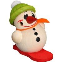 Kugelräucherfigur Cool Man klein mit Snowboard und...