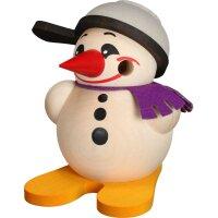 Kugelräucherfigur Cool Man klein mit Ski und Pfanne