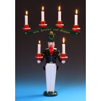 Emil Schalling miner candle holder with arch