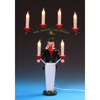 Emil Schalling miner candle holder with arch, electric...