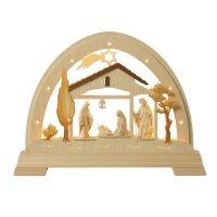 Taulin Rundbogen mit Christi Geburt - mit LED Band