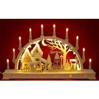 Seidel Schwibbogen Weihnachtsmarkt LED beleuchtet