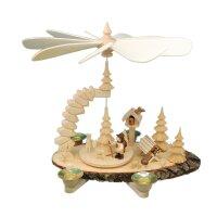 Greifensteinpyramide Vogelhaus mit Figur und Futterkrippe