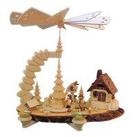 Greifensteinpyramide Waldmotiv mit Figuren und Haus