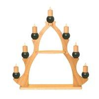 Kuhnert Fensterbaum / Fensterdreieck - 7 Kerzen grün