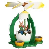 ESCO Zeidler Osterpyramide Hasenfamilie im Ei