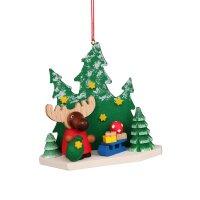Christian Ulbricht Baumbehang Elch Weihnachtsmann im Wald