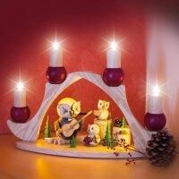 Kuhnert Fensterbogen / Schwibbogen für 4 Kerzen braun