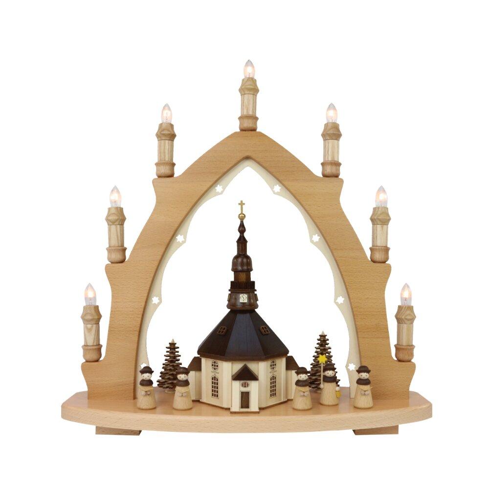 Zeidler Seiffen Erzgebirge NEW Lights Arch Schwibbogen Dresden Frauenkirche FA