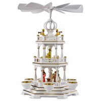 Müller tealight pyramid small with carolers 1 floor