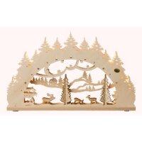 Saico 3D Lichterbogen Wald mit geschnitzten Figuren