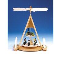 Knuth Neuber Tischpyramide Kurrende mit Seiffener Dorf