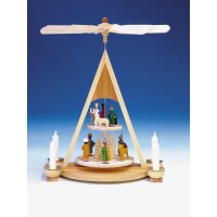 Knuth Neuber Tischpyramide mit Geburt bunt