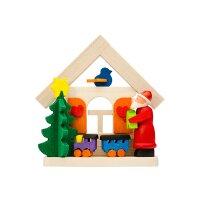 Graupner Baumbehang Haus Weihnachtsmann mit Eisenbahn