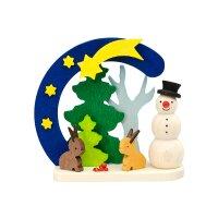 Graupner Baumbehang Bogen Schneemann mit Hasen