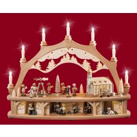 Weisbach candle arch winter children with moving figures...