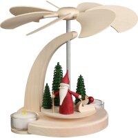 Seiffener Bogenpyramide klein Weihnachtswichtel mit...