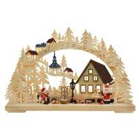 RATAGS Schwibbogen Weihnachtsmannwerkstatt klein