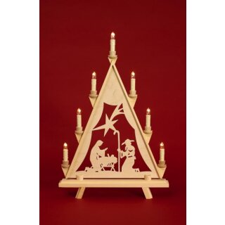 Baumann candle arch triangle Maria with star