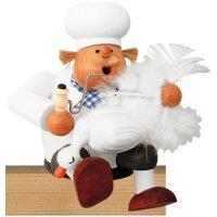 KWO Räuchermann Kantenhocker Koch mit Gans