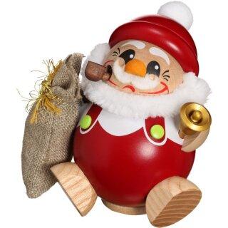 Kugel Räuchermann Nikolaus mit Geschenksack