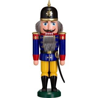 Nussknacker Soldat blau der Volkskunst eG aus Seiffen