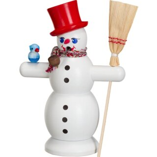 Smoker snowman with red hat