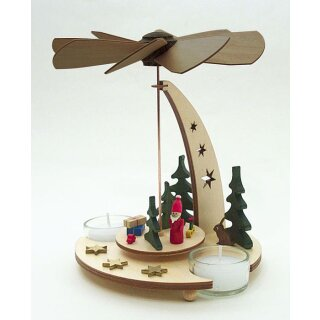 Kuhnert pyramid with Santa Claus for tealights