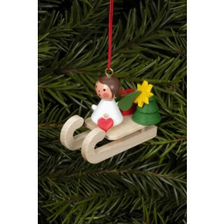 Christian Ulbricht tree decoration mini angel on sled