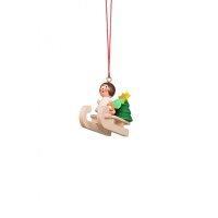 Christian Ulbricht tree decoration mini angel on sled