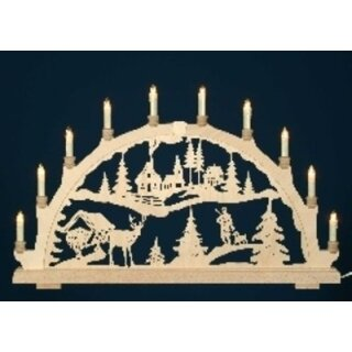 candle arch motif forest with hunter