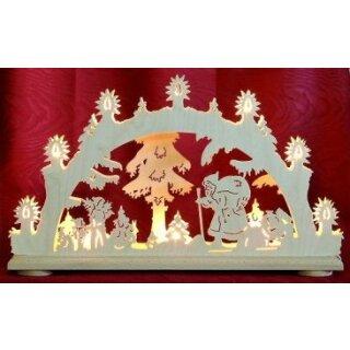 candle arch Santa Claus 2D