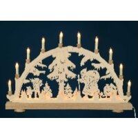 candle arch Santa Claus with children