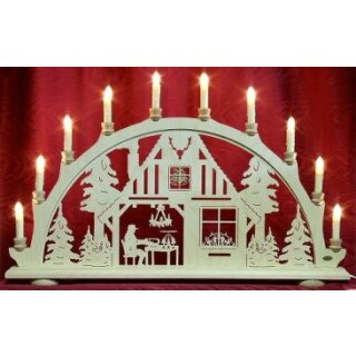 candle arch christmas room
