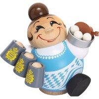 Chubby Smoker Waitress