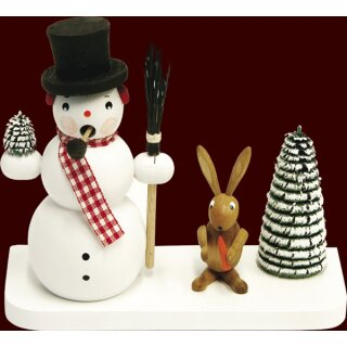 Saico Smoker snowman with hobbit