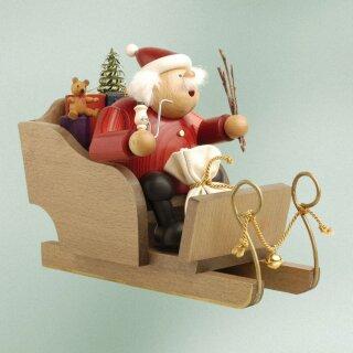KWO Räuchermann Weihnachtsmann mit Schlitten