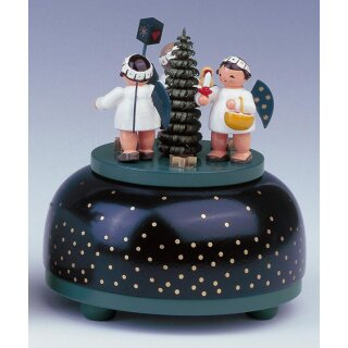 KWO music box angel with present small