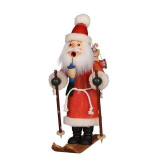 Christian Ulbricht Räuchermann Weihnachtsmann auf Ski