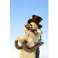 Christian Ulbricht smoker snowman on sled  nature