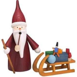 Räuchermann Weihnachtswichtel mit Schlitten